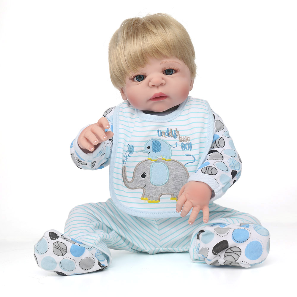 NPKDOLL Reborn Doll Full Silicone Body 55 cm Toddler Toys Silicone Reborn Babies Real Toys Edcational