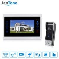 JeaTone 7 HD Color Touch Button Video Door Phone Intercom Indoor Monitor 1200TVL IR Doorbell Camera