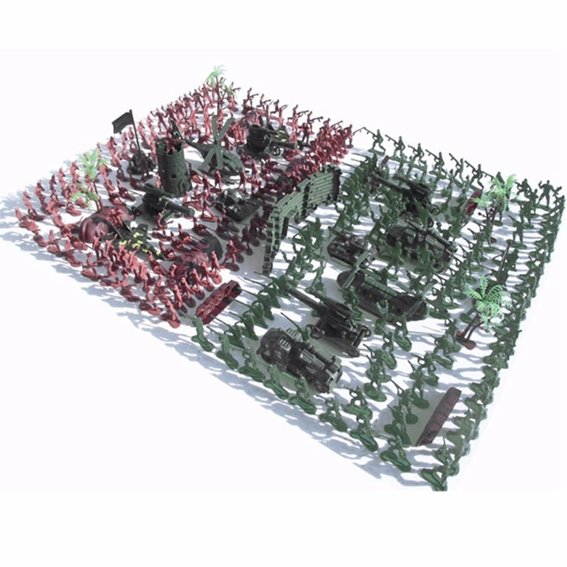 270 Pcs/lot Nostalgic Soldier Toy Military Figures Kit Army Men Sand Scene Model