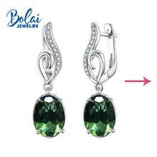 Bolaijewelry серьги с зултанитом из стерлингового серебра 925