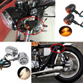 New  1 Pair Motocicleta Motorcycle Cafe Racer Turn Signal Indicators Blinker Light Lamp For Harley Honda BMW Yamaha Motos