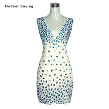 modest saying Real Photo Sexy Deep V Mini Cocktail Dresses