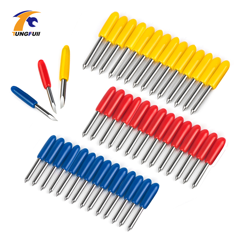 15pcs 30-60 Degree Summa D Blade Cutting Plotter Vinyl Cutter Blade Summa Needle Knife Tool Cutter