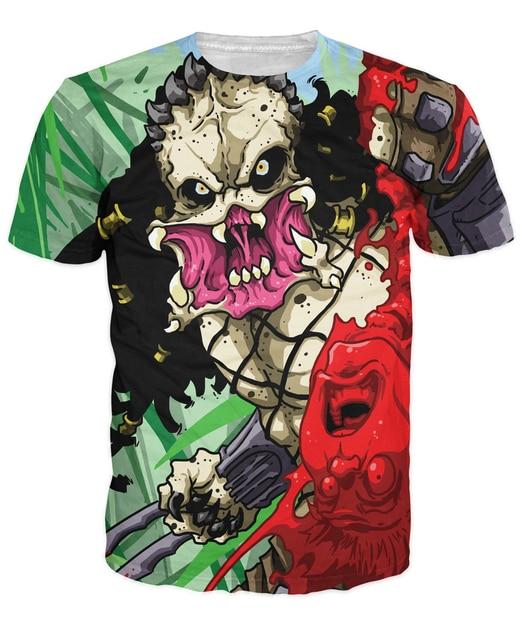 8a0fc2e5475 Predator T-Shirt alien vibrant tee Fashion Clothing tops Unisex Women Men  Summer Style tees Casual tshirt Funny t shirt