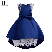 HE Hello Enjoy Toddler Formal Dresses Girls Dress Lace Bow Birthday Outfits Children S Girls First