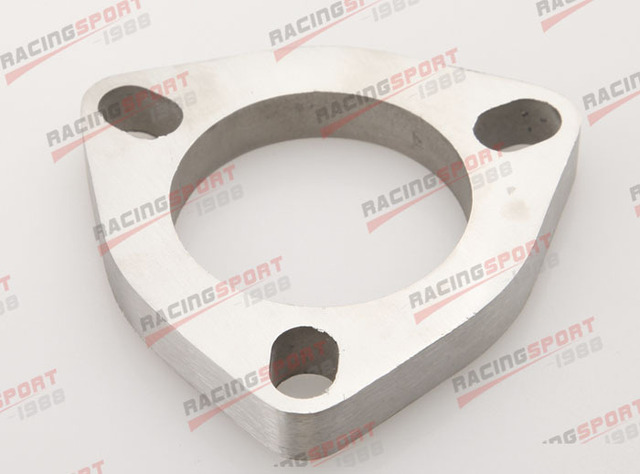 """2.5"""" 3 Bolt SS304 Slotted Flange Exhaust Downpipe Pipe Catback Header 1/2""""Thick"""
