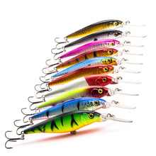 10Pcs/lot Fishing Lure Deep Swim Hard Bait Fish Tackle 11CM 10.5G Float Minnow Fishing Wobbler Japan Pesca Crankbait