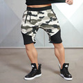 Men Camouflage Gyms Shorts Bodybuilding Knee Lenght Pants Casual Trousers Fashion Brand Runner Short Pants