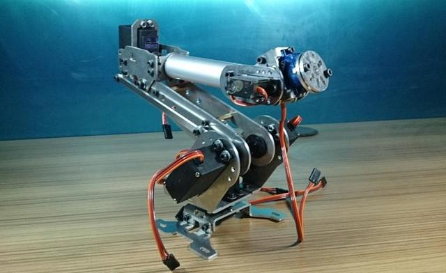Industrial Robot 698 Mechanical Arm 100% Alloy Manipulator 6-Axis Robot arm Rack with 6 Servos