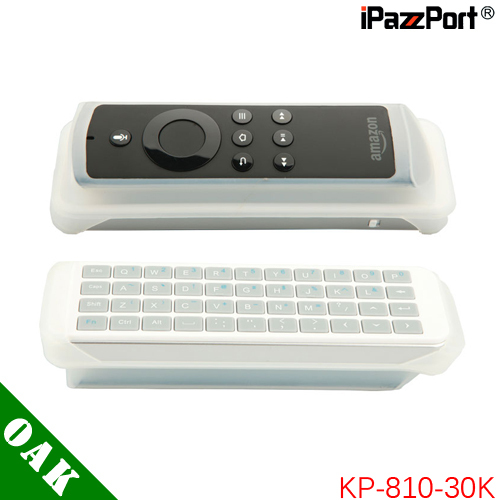 цена Free Shipping - iPazzPort KP-810-30K Mini 2.4G Wireless Keyboard for Apple TV with Silicone Sheath