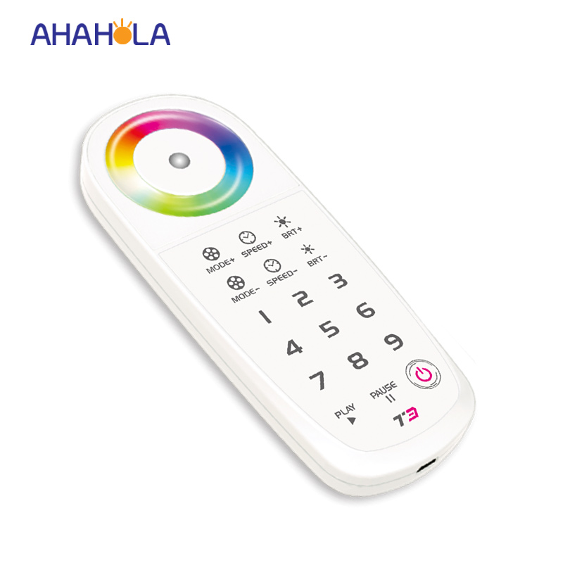 ФОТО 5 years warranty t3 2.4G touch led rgb controller with rf remote control unlimited led receiver remote distance 30m 32 modes
