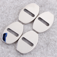Car Styling 4Pcs Stainless Steel Car Door Lock Cover For VW Volkswagen Jetta MK5 MK6 Golf
