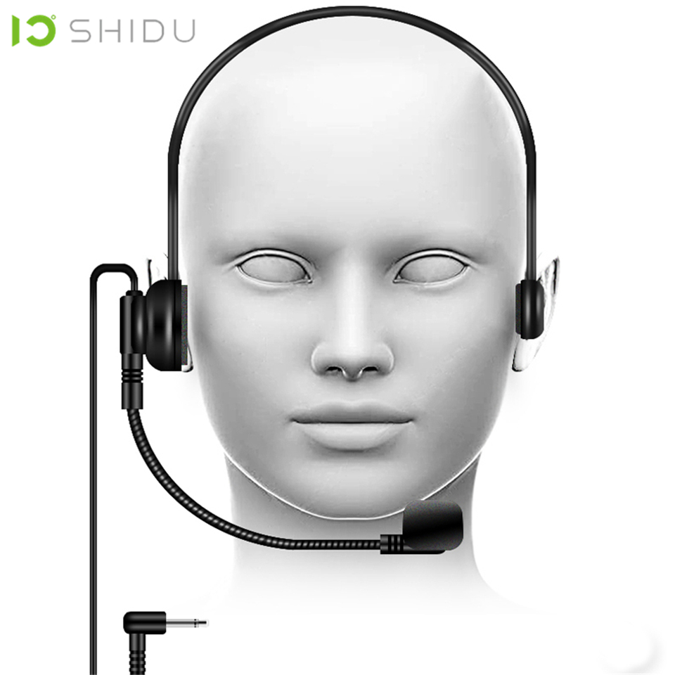 Marca SHIDU S5 Microfone De Lapela Condensador Mic Para O Portátil Amplificador de Voz Megafone Altifalante Professores da Conferência Orador