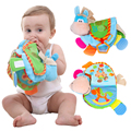 Baby Rattles Teether Toys Cute Donkey Animal Quiet Cloth Book For Toddlers Learning & Education Toy Gift brinquedos 0-12 Month