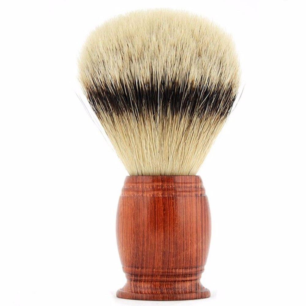 Top Qualité Blaireau Rasage Barbe Brosse Silvertip Poils de blaireau Brosse et Au Savon Rouge Manche En Bois Rasage Brosses Pour Père