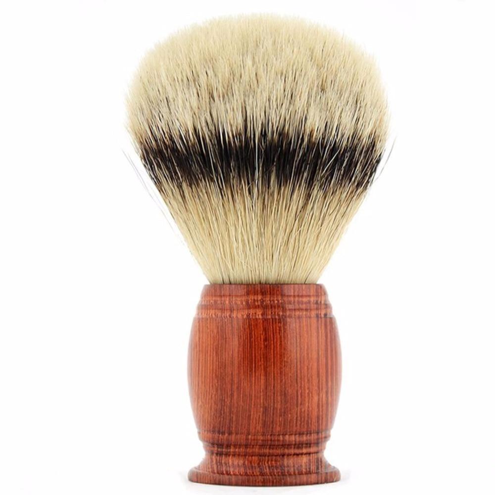 Top Quality Barba Pennello Da Barba in Tasso Silvertip Badger Capelli Sapone Spazzola Red Maniglia di Legno Pennelli Da Barba Per Il Padre