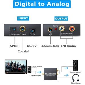 Image 3 - 3.5mm Jack 2RCA Coaxial Optical Fiber Digital To Analog Audio Converter Amplifier Decoder Digital Audio Decoder Adapter Protable
