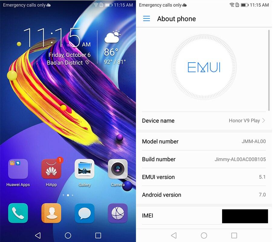 Оригинальный huawei Honor 6C Pro 4 ГБ Оперативная память 32G ROM Dual SIM 5,2 дюймов MT6750 Восьмиядерный Android 7,0 отпечатков пальцев 13MP N