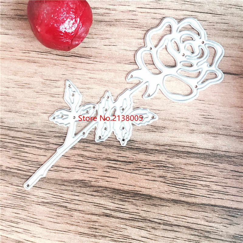 2019 Rose Flower Die Cuts Metal Die Cutting Dies In Scrapbooking Embossing Folder suit for big shot cutting machine