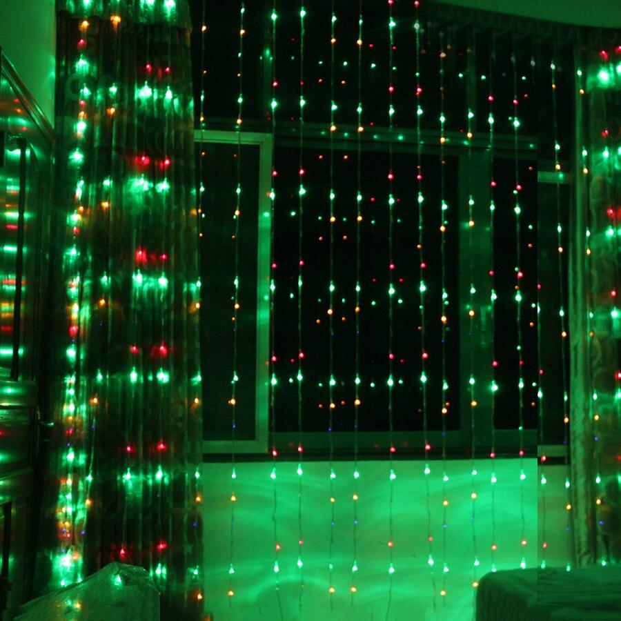 Thrisdar 6X3 м 768 светодио дный цифровой водопад Шторы сосулька светодио дный Строка Гирлянда 16 Режим скачки фон Фея свет шнура