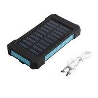 Solar Power Bank 30000mAh LED Light Portable Waterproof Solar Charger Powerbank 30000 Mah 2 Dual USB