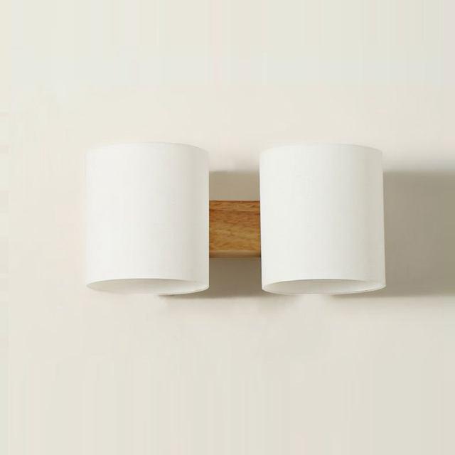 Moderne En Bois Verre Cylindre Chambre Chevet Salle De Bains - Applique salle de bain bois