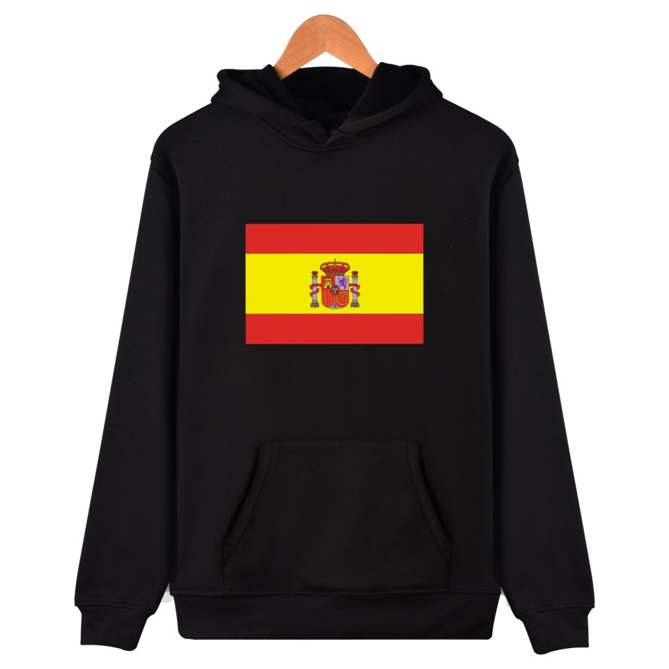 Spanish Espagne Flag Winter Mens Hoodies And Sweatshirts  Canada Hoodies Men Hip Hop  America Lady Black Casual Clothes