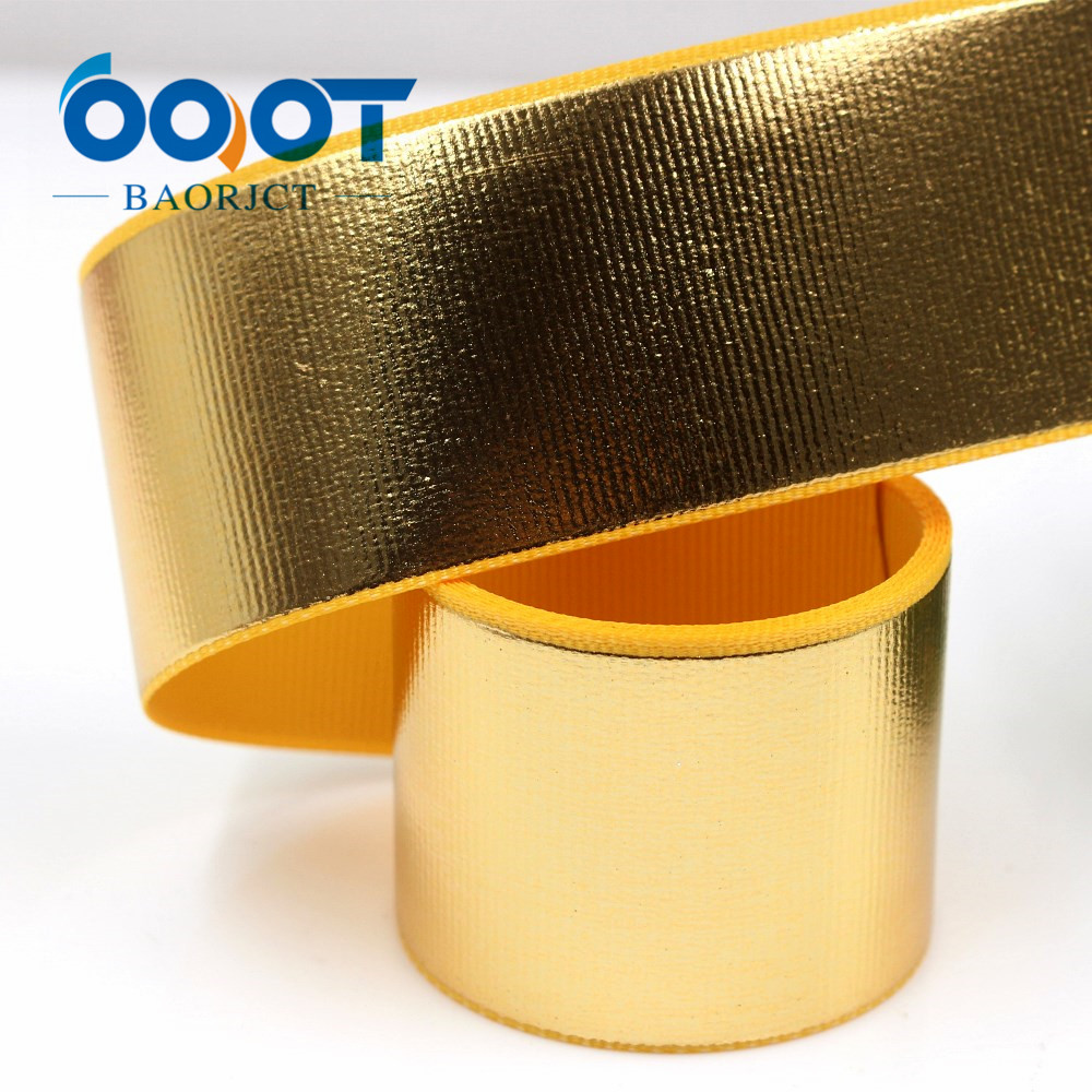 G-181027-1, 38 мм, 1-1/2 дюйма, горячее предложение, Золотая и серебряная корсажная лента, 10 ярдов/партия, ручная работа, бант, праздничная подарочная упаковка, вечерние