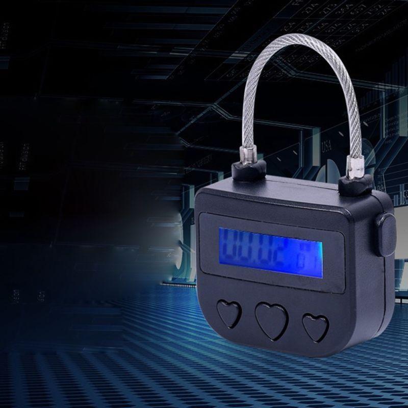 Cable ABS USB Switch Padlock Bondage Time Lock Black Adult 180mA 73×47×20mm Accessories Electronic Self-Bondage