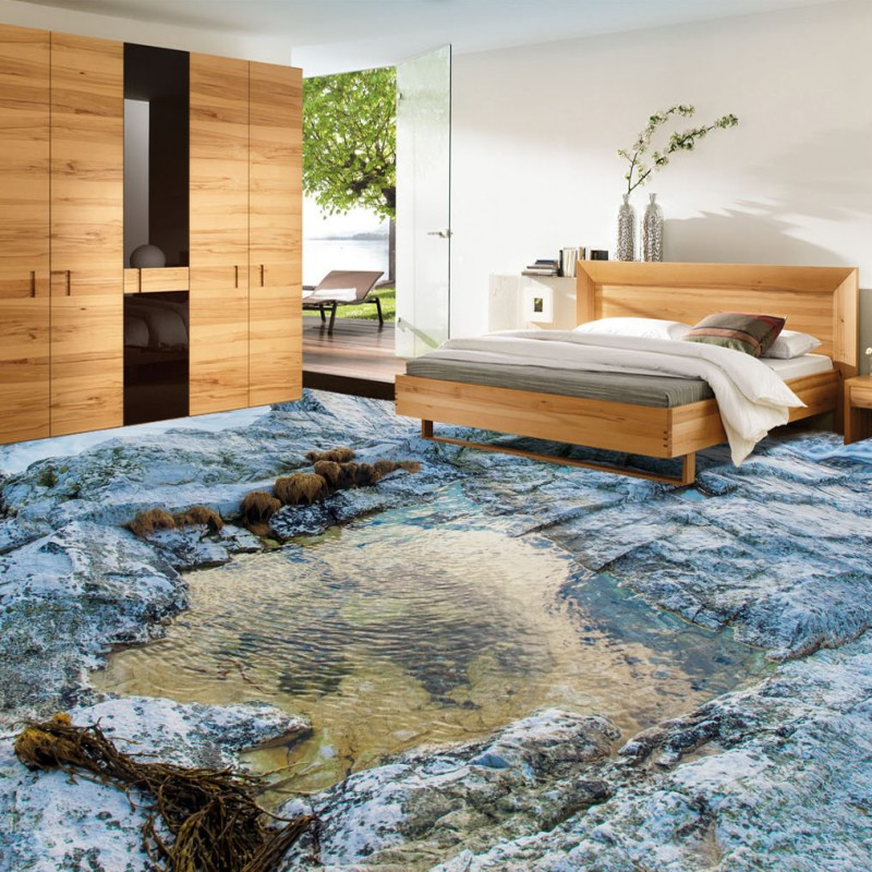Free Shipping Wave surf stone water flowing 3D living room bathroom floor thickened non-slip bedroom study office flooring mural free shipping flowing water making money streams falls river 3d floor painting bedroom living room bathroom wallpaper mural