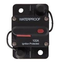 100Amp 12v 24v Waterproof Manual Reset Circuit Breaker Flush Mount Boat Trolling Motor Accessory