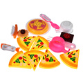 16pcs Pizza Party Fast Food Cooking Cutting Play Set Toy Kids Children's Role Play Educational Kitchen Toy Set