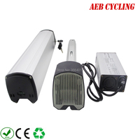 High capacity Ebike Lithium ion 36V 13.6Ah slim down tube battery for mountain bike city bike with charger