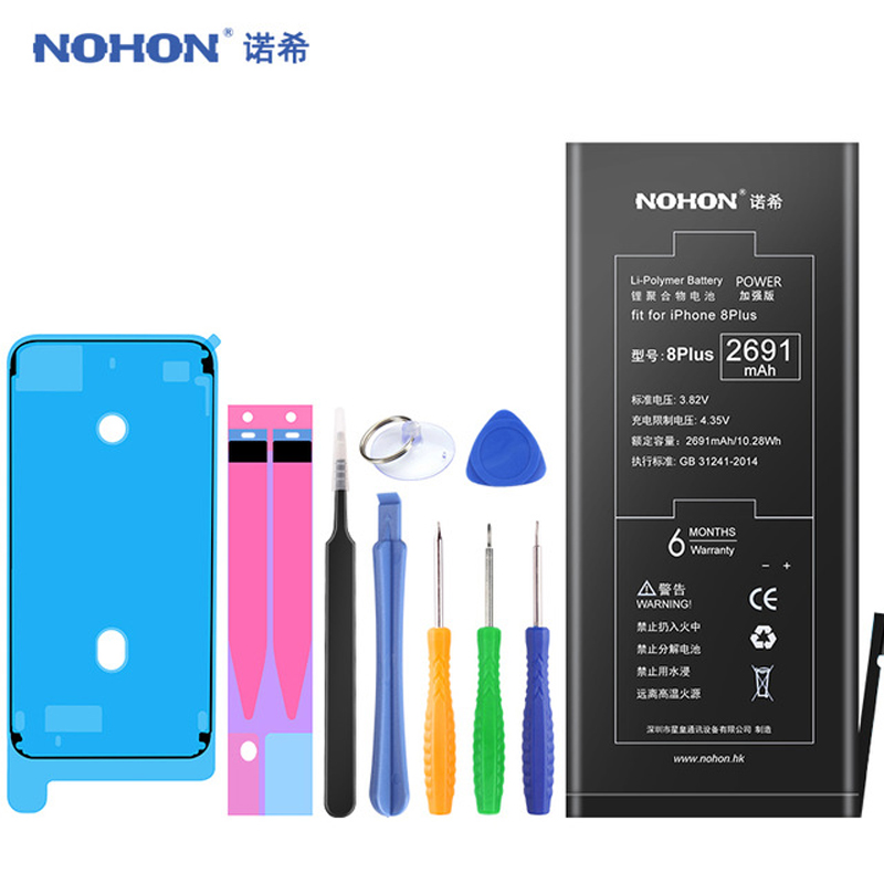 Image 5 - Original NOHON For iPhone 6S 6 Plus 6S Plus 7 Plus 8 Plus Battery Real High Capacity Replacement Batteries Mobile Phone Bateria-in Mobile Phone Batteries from Cellphones & Telecommunications