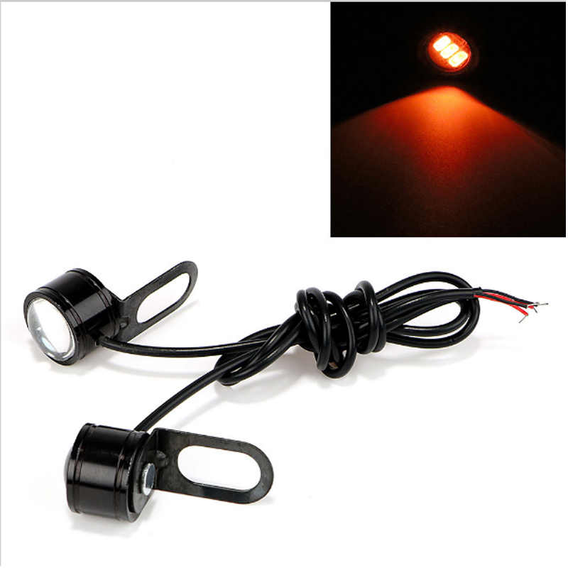 2 Pcs DC 12V 5W Eagle Eye LED Hawkeye Reverse Backup Light DRL Daytime Running Light Car Motorcycle Signal Bulb Fog Lamp