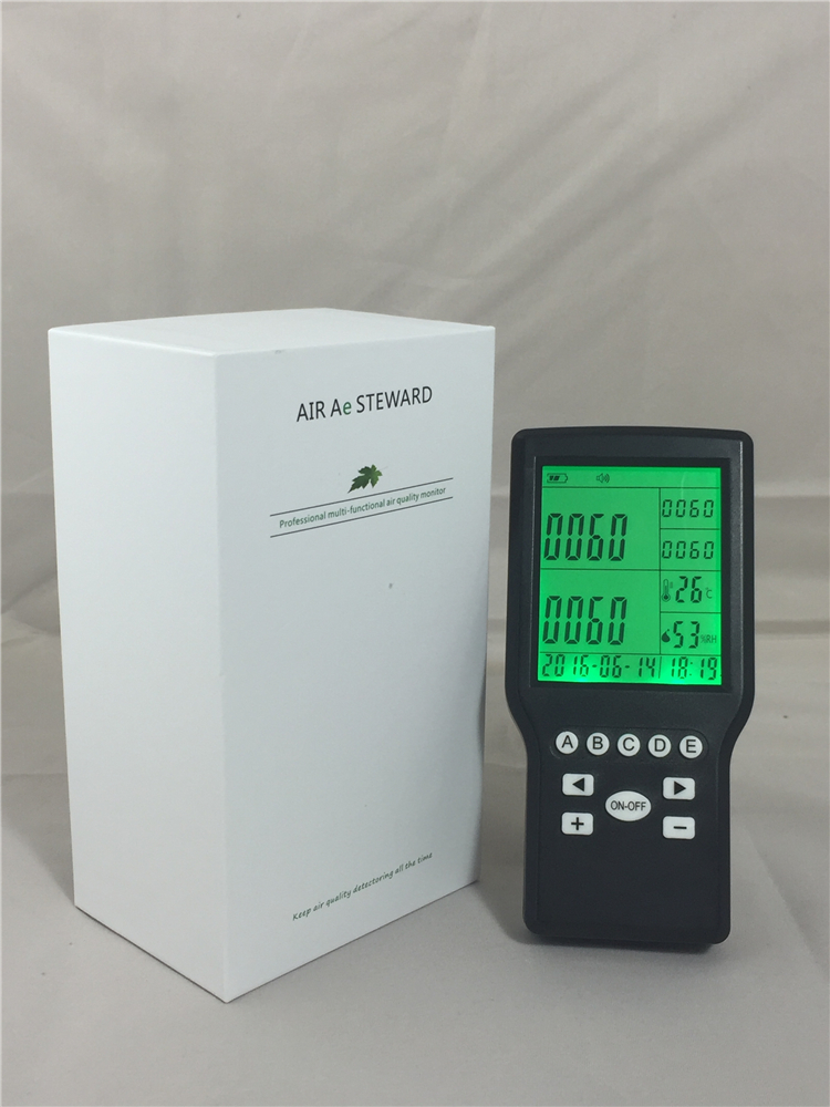 Handheld formaldehyde monitor with gas detector Temperature & Humidity Function 9999ppm carbon dioxide co2 monitor detector air temperature humidity logger