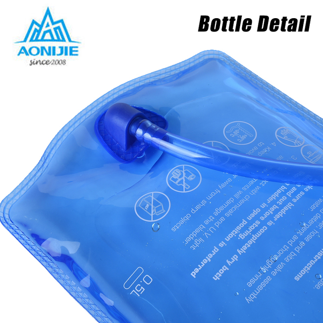 AONIJIE Water Bladder Soft Drinking Flask Hydration Bladder Hiking Travel Waterbag 1L 1.5L 2L 3L 2