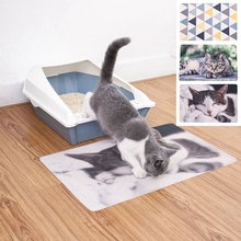 Portable Pets Cats Litter Mat Bed House Floor Double Layer EVA Waterproof Bottom Trapper Home Wearable Cat Products
