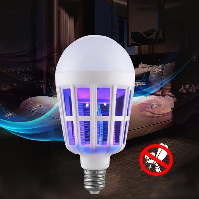 Indoor 2 Modes E27 LED Mosquito Killer Lamp Bulb Electric Trap Light Electronic Anti Insect Bug Pest Fly for Outdoor kitchen 5