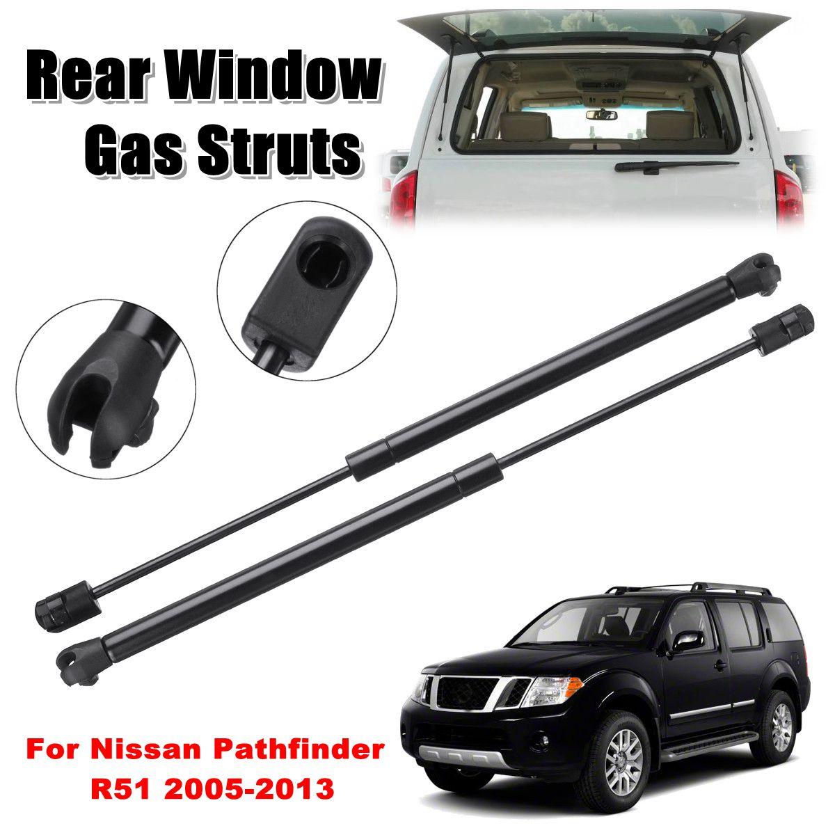 2 pz Vetro del Finestrino Posteriore Supporto Gas Struts Sring Per Nissan Pathfinder R51 2005-2013 90460ZL90A