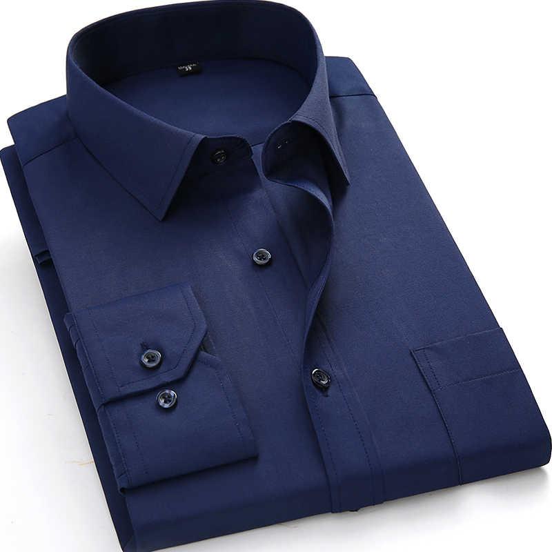 b785a70bdda 2018 Big size US 4XL 5XL 6XL Classical Design Cotton Men Dress Shirts  Business Formal Male