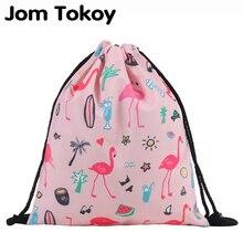 Jom Tokoy Fashion Drawstring Bag Printing Flamingo Mochila Feminina Backpack Women daily Casual Girl's knapsack 29033