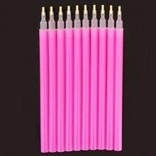 Высокое качество 10 шт. Горячая Акриловые стразы расставить ручки для дизайна ногтей Живопись Точка набор инструментов