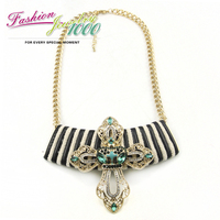 Free Shipping New Arrival Romantic Woolen Necklace Designer Crystal CrossFashion Lady Jewelry For Women
