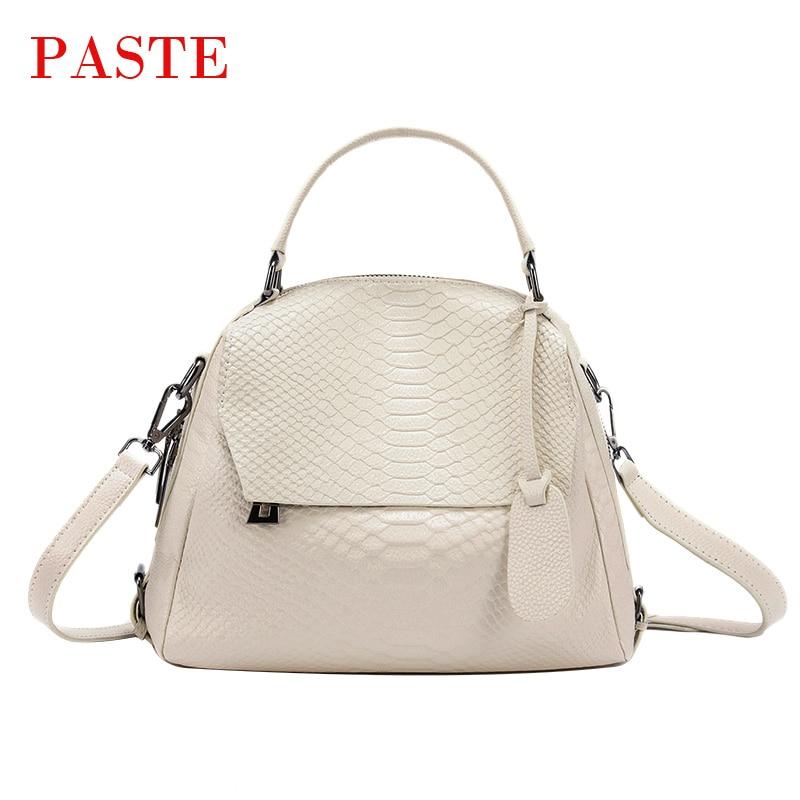 2018 All match Korean Style Handbag Women Serpentine Crocodile Pattern Cowhide Female Shoulder tote Bag for