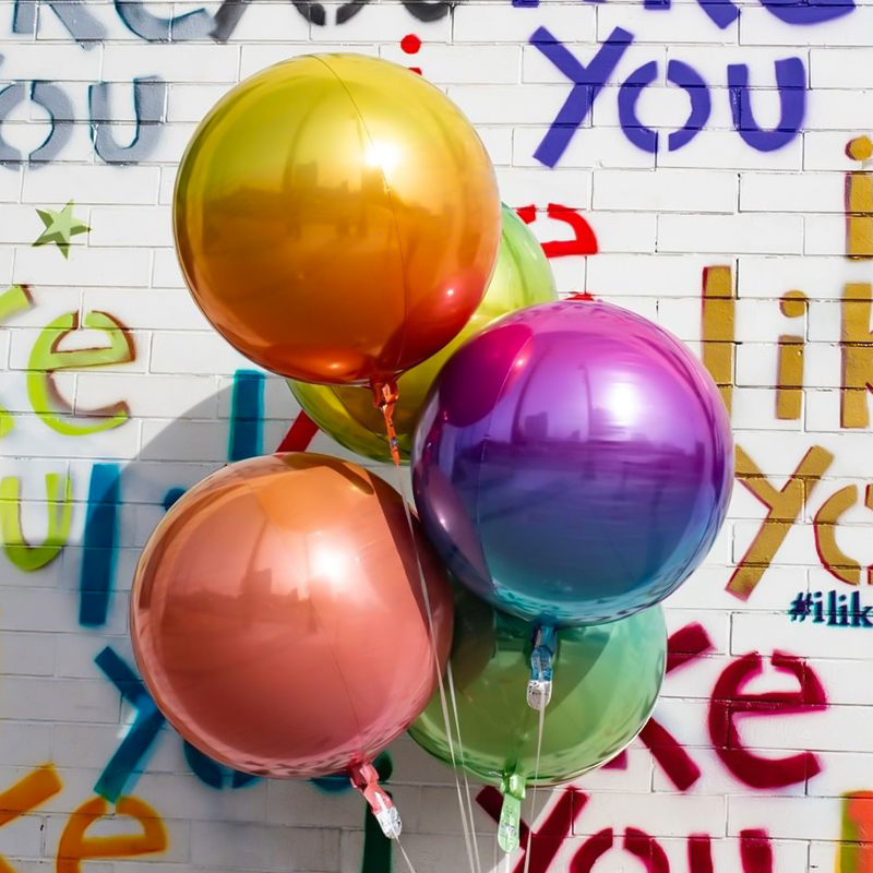 "New Gradient Color 22/"" Baby Shower Wedding Birthday Decor Aluminum Film Ballons"
