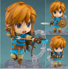 NEW hot 10cm Legend of Zelda Breath of the Wild Link Action figure toys collection doll Christmas gift with box