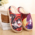 Anime Date A Live Kurumi Tokisaki Warm Soft Shoes Plush Antiskid Home Indoor Slippers