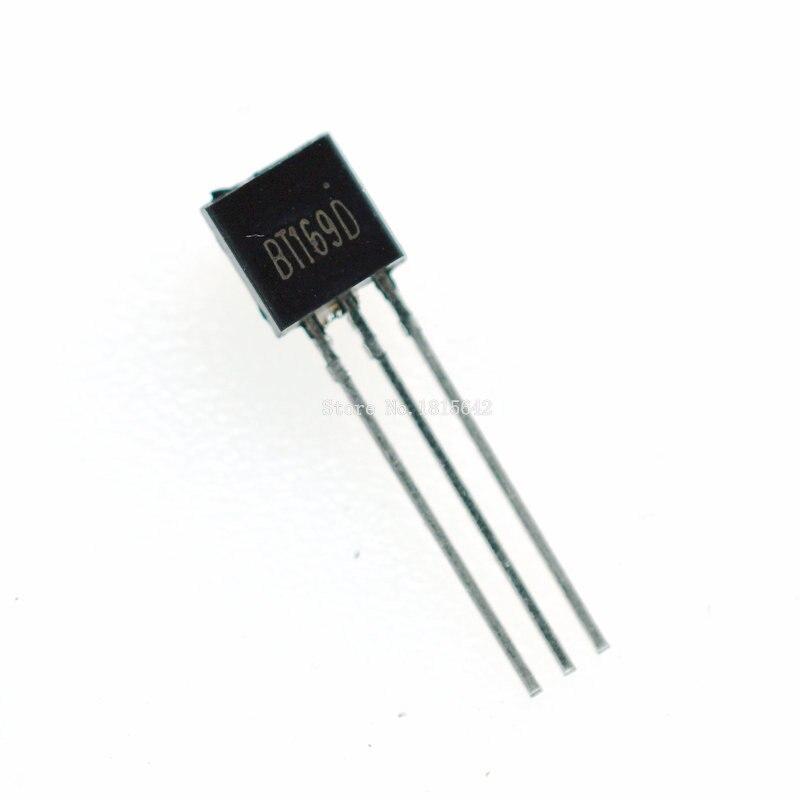 50PCS/LOT BT169D BT169 TO-92 Triacs Thyristor SCR 400V 9A 3-Pin SPT New