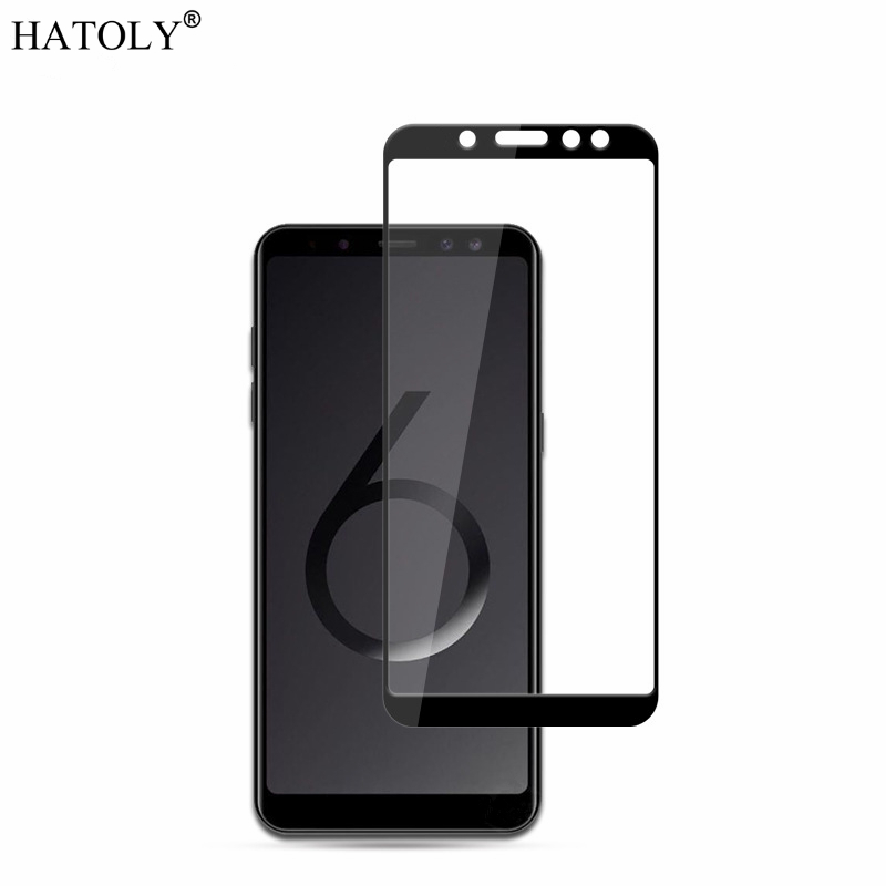 2PCS Tempered Glass For Samsung Galaxy A6 Plus 2018 Screen Protector A605 Full Cover For Galaxy A6 Plus 2018 3D Curved Edge Film